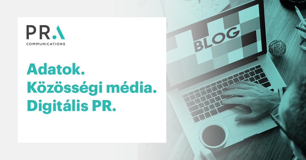 Adatok. Közösségi média. Digitális PR.